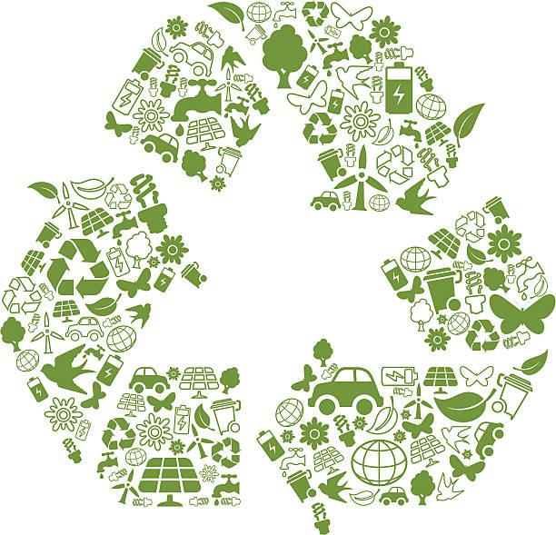 symbol recyklingu - tap water stock illustrations