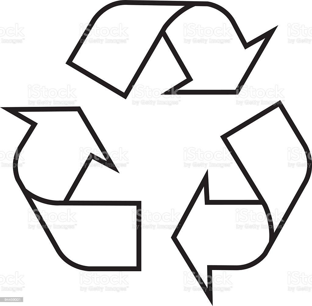 Recycling Symbol - Vector royalty-free recycling symbol vector stock vector art & more images of arrow symbol