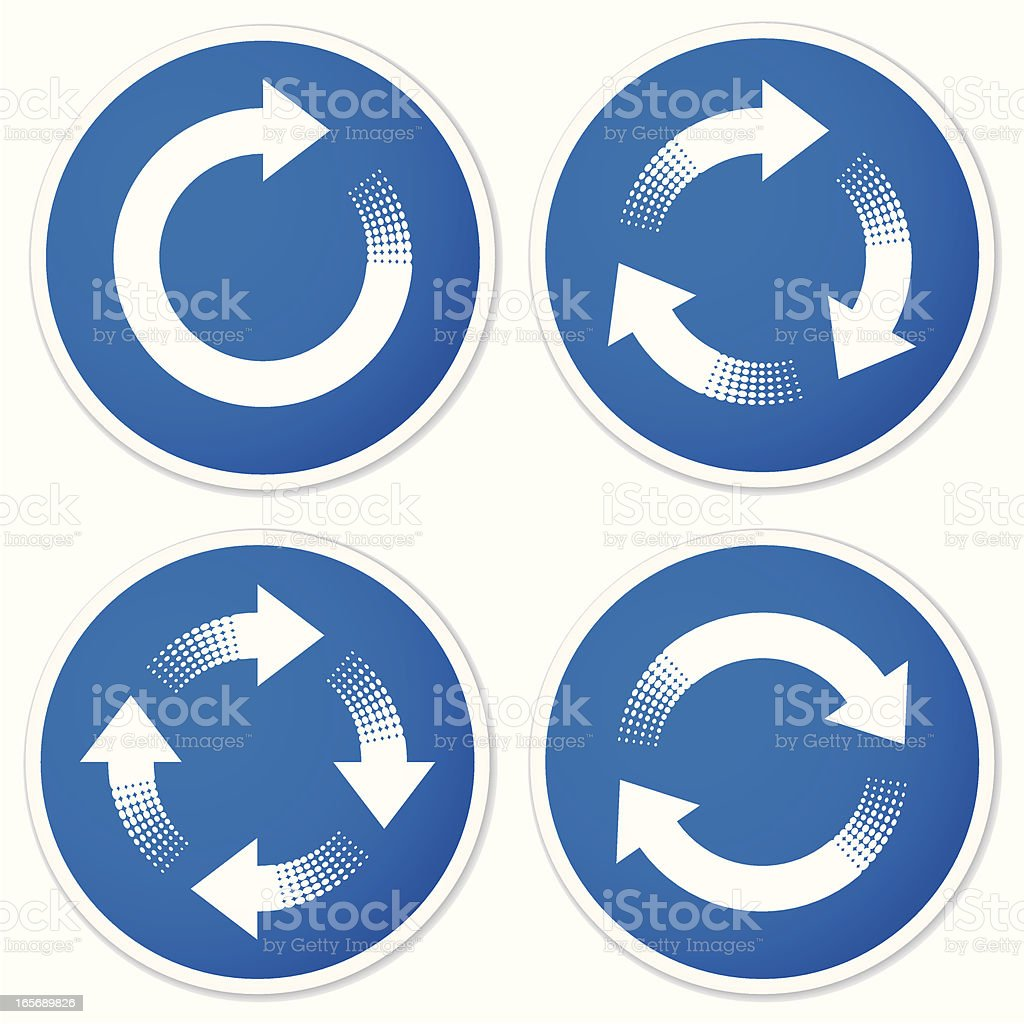 Recycling Symbols Or Refresh Arrows Stickers Stock Vector Art More