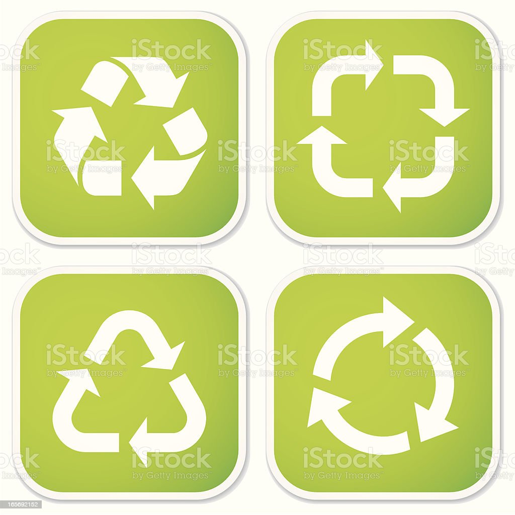 Recycling Symbols Stickers Stock Vector Art More Images Of