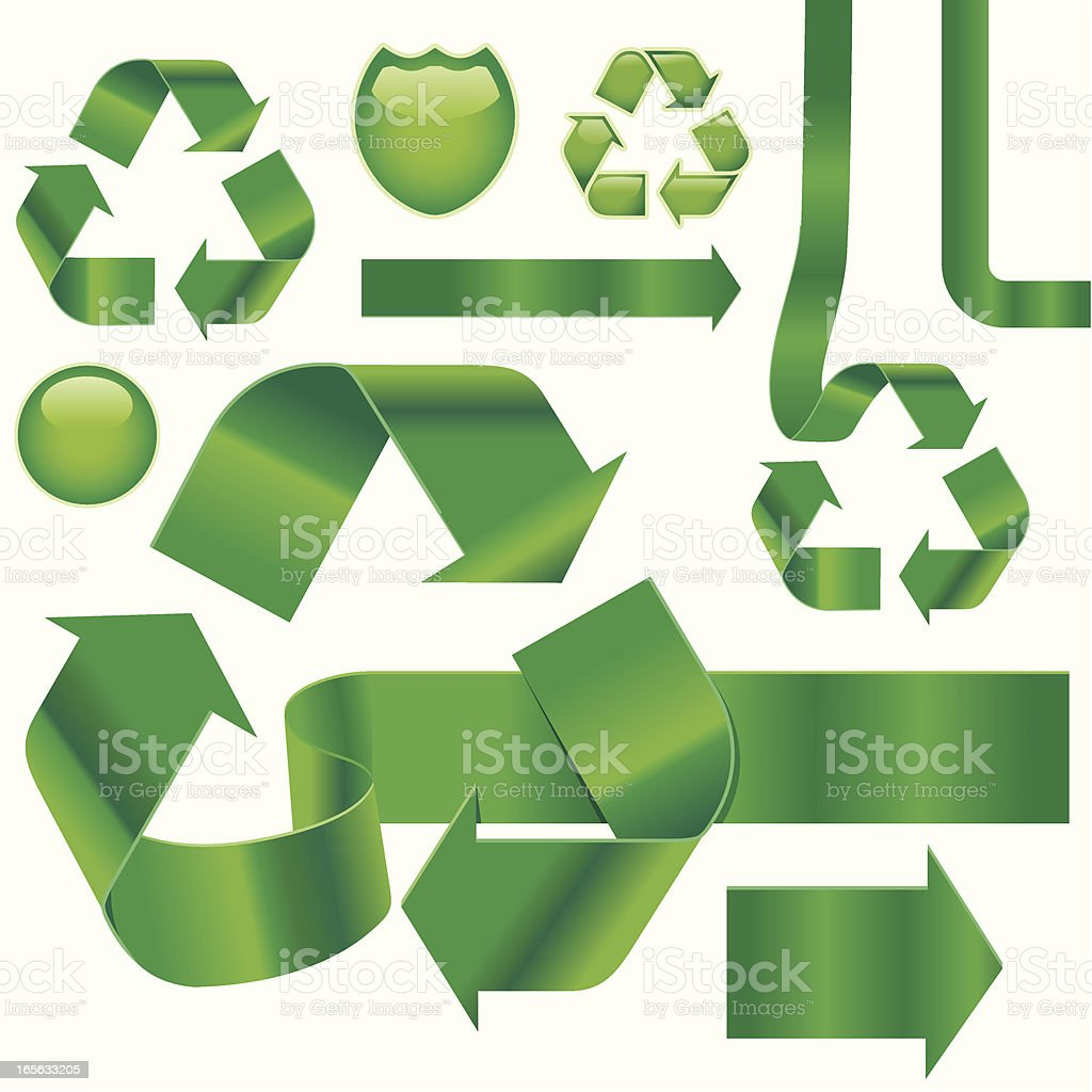 Recycling Unraveled vector art illustration