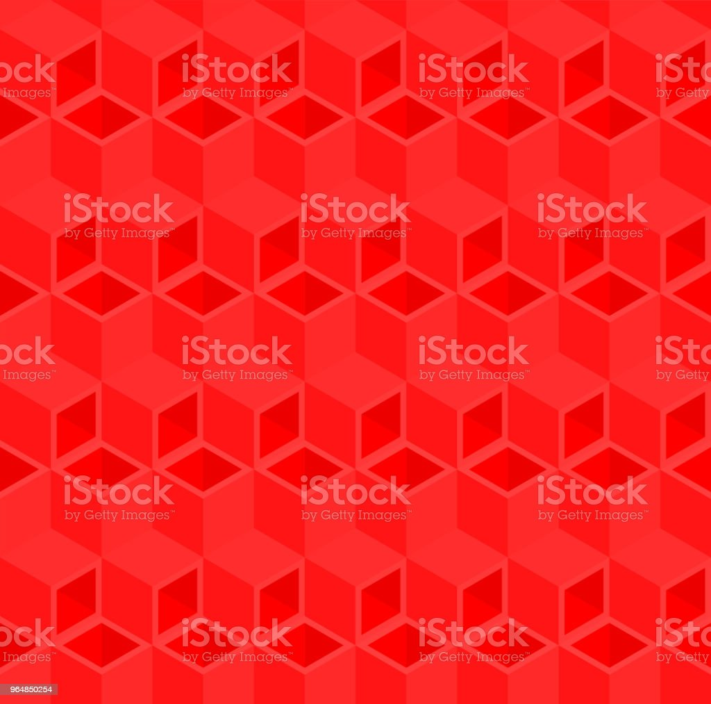 Red 3D cube illustration background. royalty-free red 3d cube illustration background stock vector art & more images of abstract