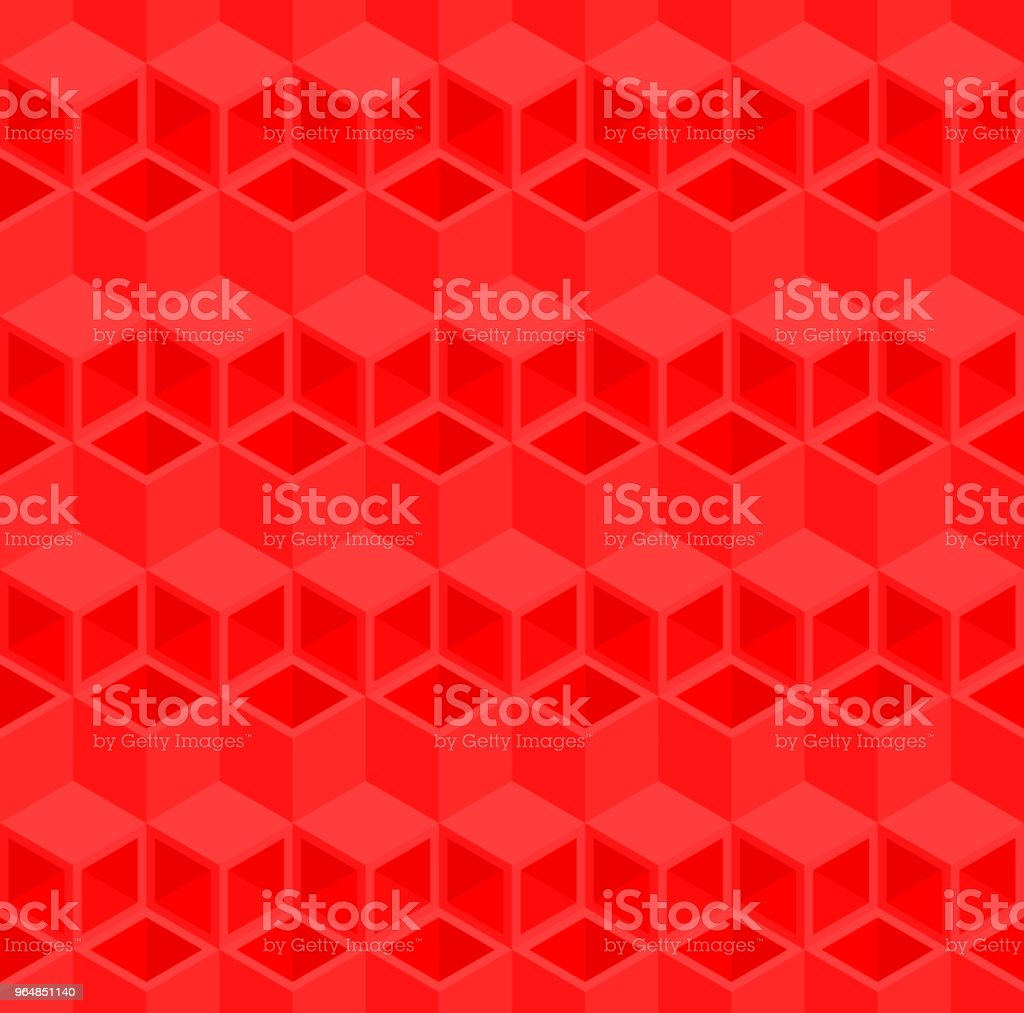 Red 3D cube illustration background. royalty-free red 3d cube illustration background stock illustration - download image now