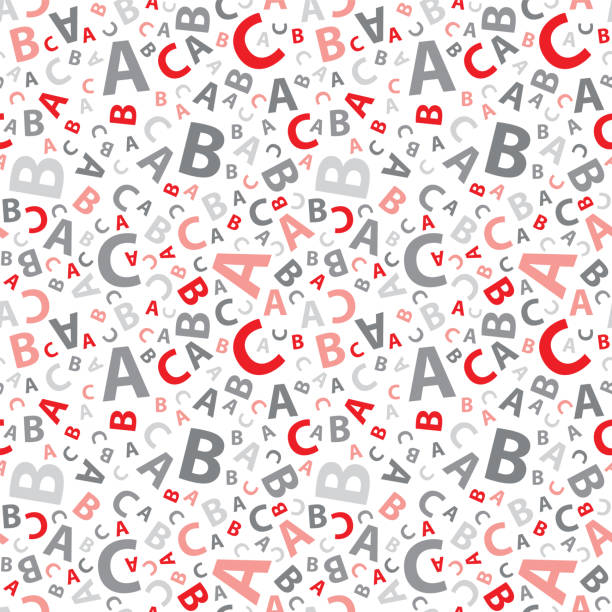 Red abc letter background seamless Red abc letter background seamless alphabet backgrounds stock illustrations