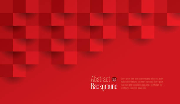 Red abstract background vector. Website Template, Web Page, Banner - Sign, Internet, Concepts & Topics magazine publication stock illustrations