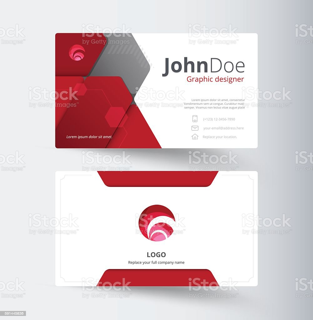 Red abstract business contact card template design stock vector art red abstract business contact card template design royalty free red abstract business contact card fbccfo Gallery