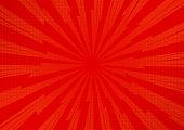 Red Abstract Comic Cartoon Sunlight Background. Vector Illustration Design.