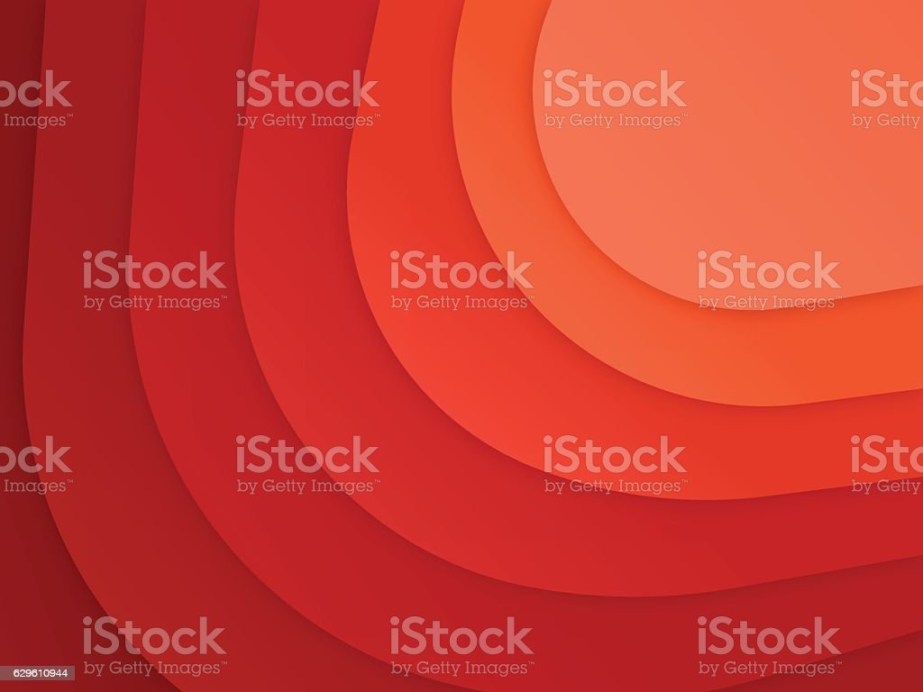 Red Abstract Layers vector art illustration