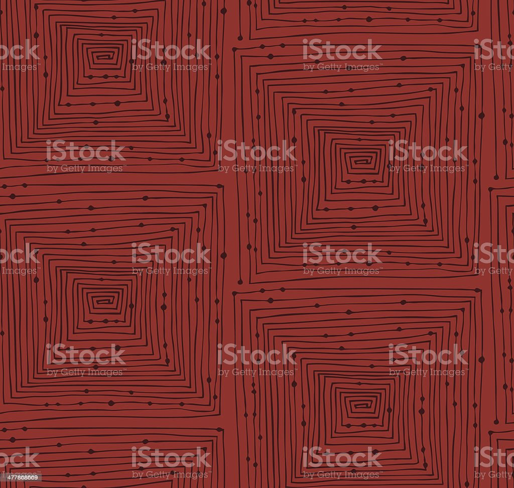 Red abstract linear seamless pattern royalty-free stock vector art
