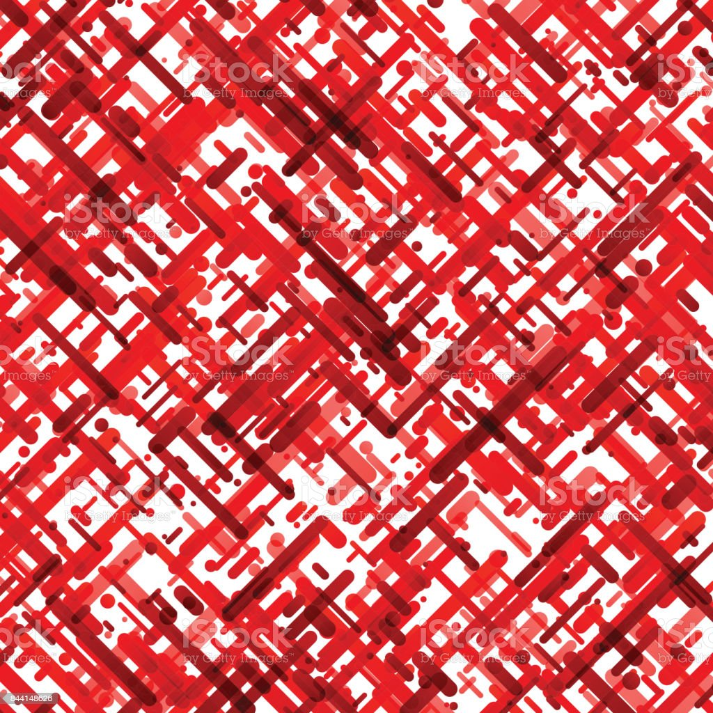Red abstract pattern on white background. vector art illustration