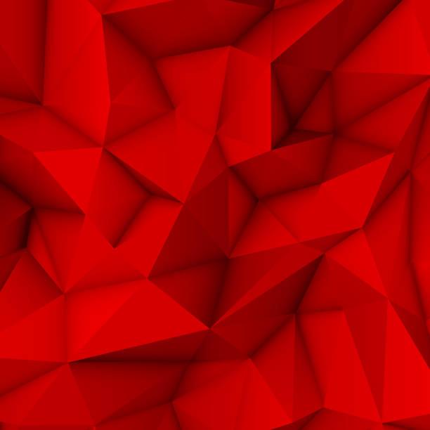 ilustrações, clipart, desenhos animados e ícones de fundo abstrato vermelho polygonal - organic shapes