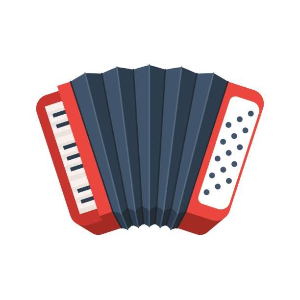 Rote Symbol für Akkordeon – Vektorgrafik