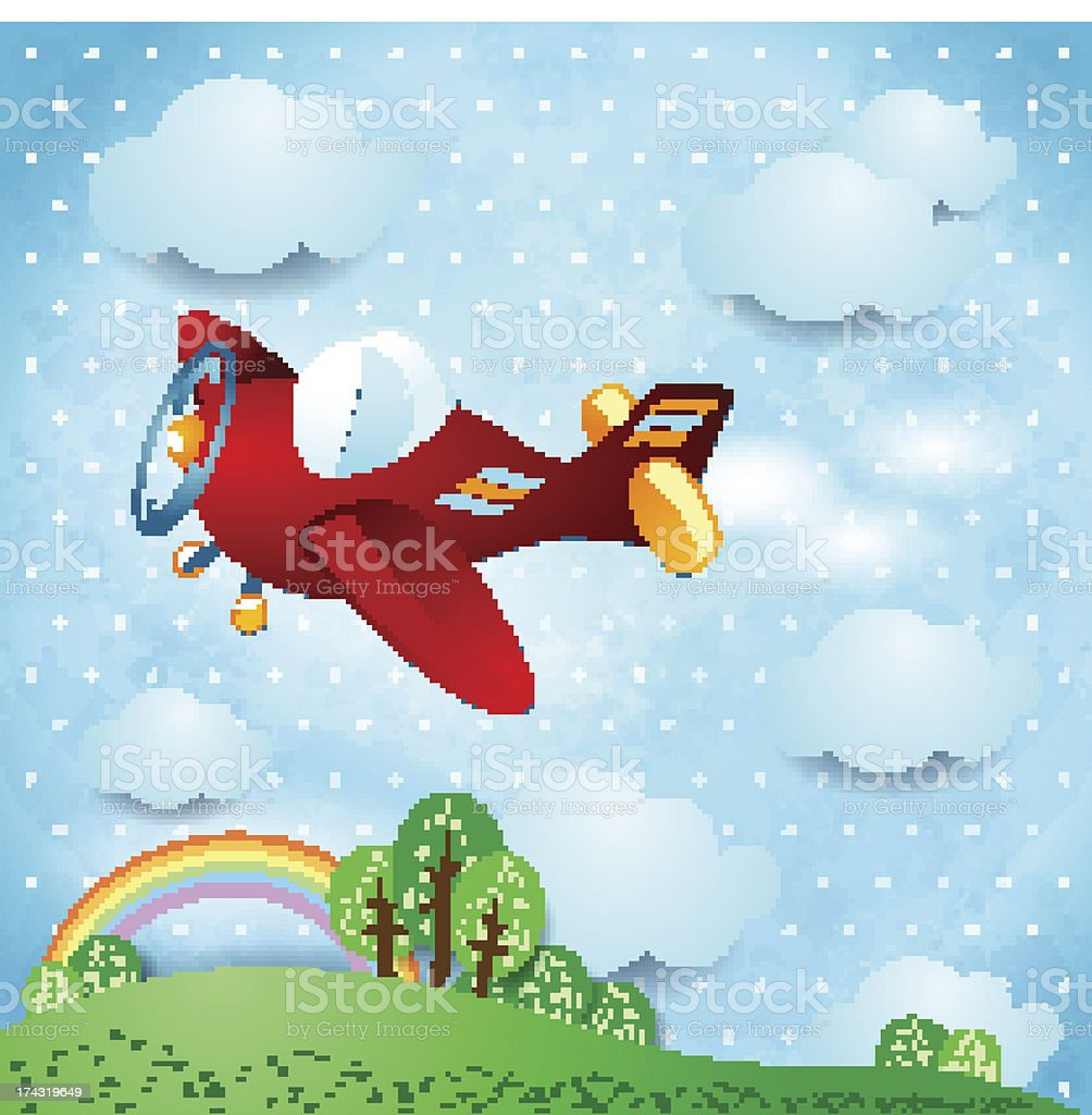 Red airplane royalty-free red airplane stock vector art & more images of air vehicle
