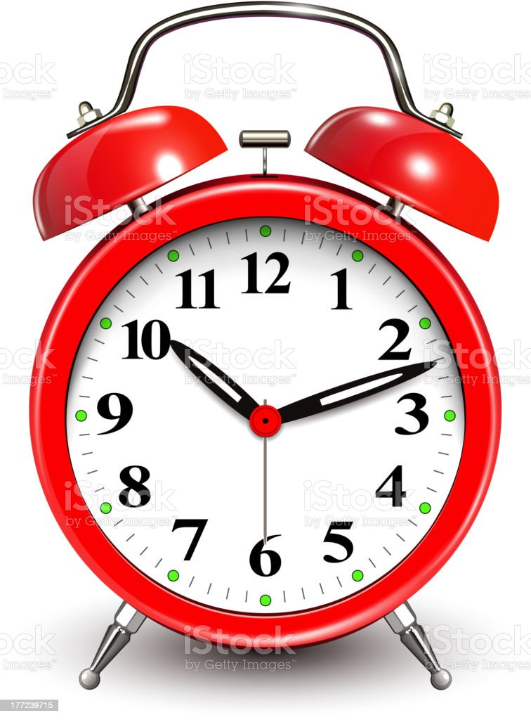 Red Alarm Clock vector art illustration