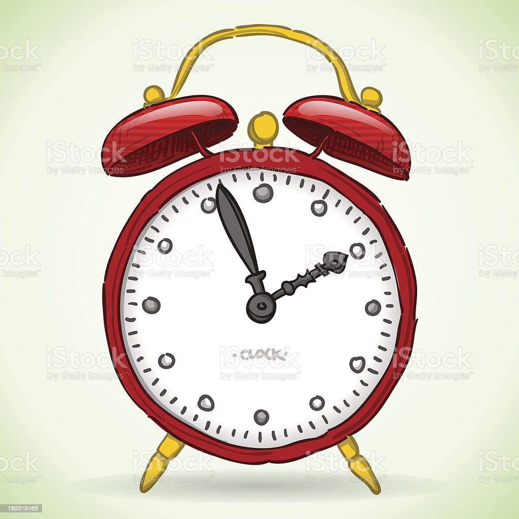 Red Alarm Clock royalty-free stock vector art