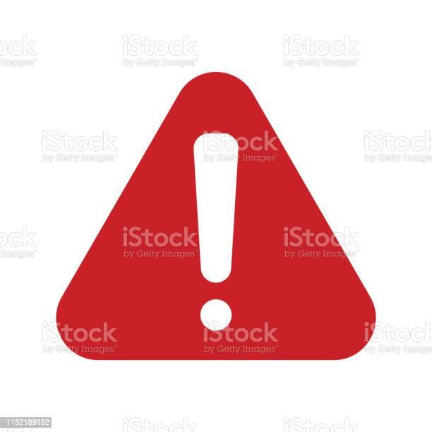 Red Alert Icon - Arte vetorial de stock e mais imagens de Acidentes e Desastres