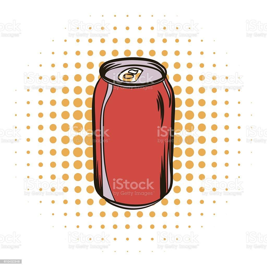 Red aluminum can comics iconvectorkunst illustratie