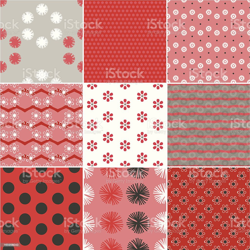 Red & Grey Pattern royalty-free stock vector art