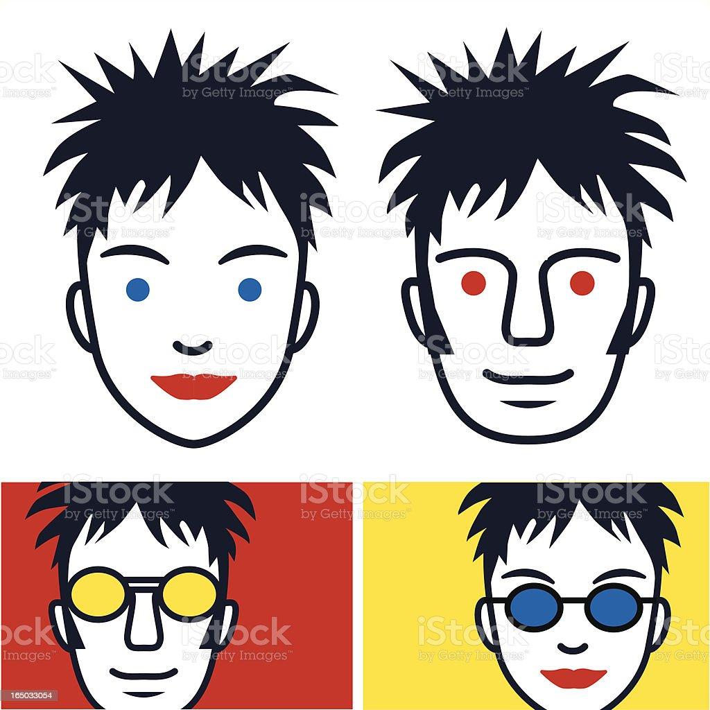 Red & Yellow Kids vector art illustration