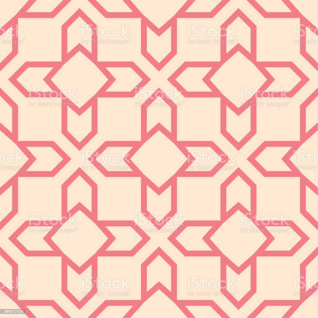 Red and beige geometric ornament. Seamless pattern royalty-free red and beige geometric ornament seamless pattern stock vector art & more images of abstract