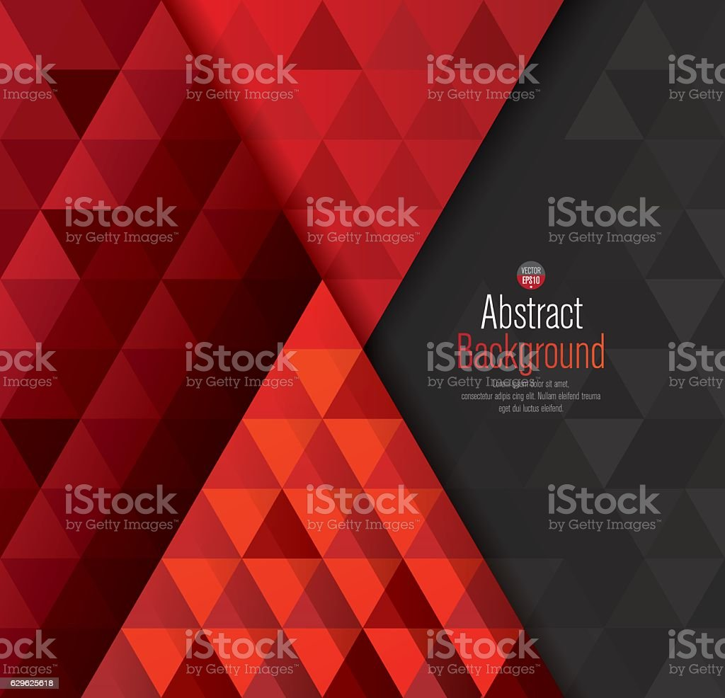 Red and black abstract background vector. vector art illustration