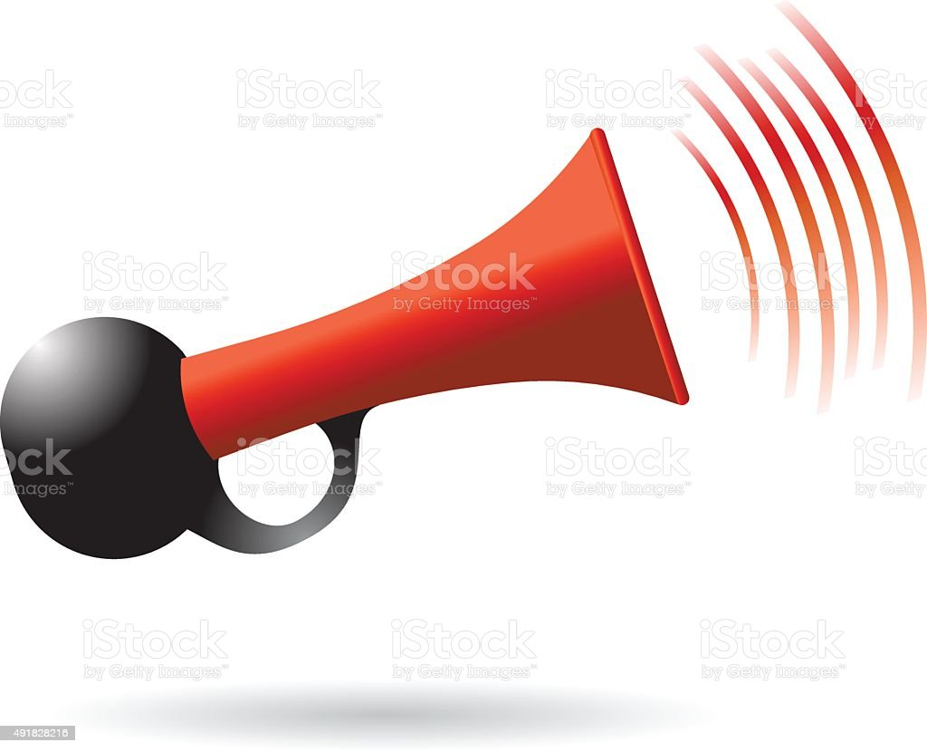 red and black air horn icon vector illustration vector art illustration