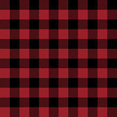 Red and Black Buffalo Plaid Seamless Pattern