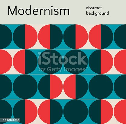 istock Red and black circle abstract background 471369948