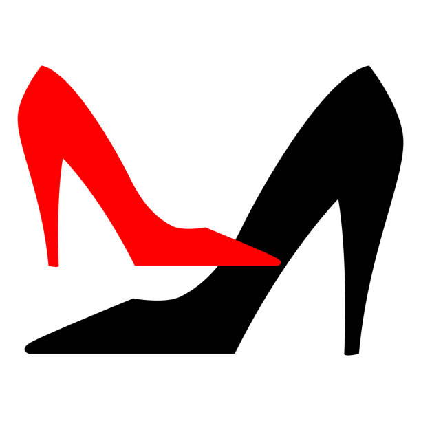 aa49a61e979 Best Women Shoes White Background No People Illustrations, Royalty ...