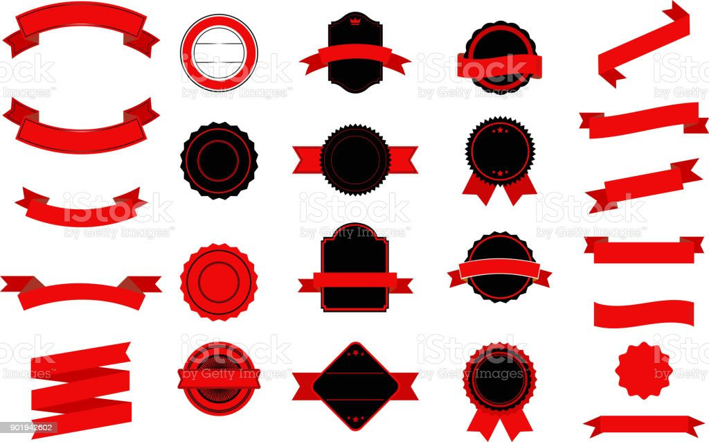 Red and Black Ribons