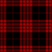 istock Red And Black Scottish Tartan Plaid Textile Pattern 1168161833