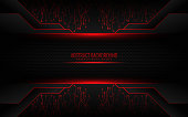 Red and black tech corporate background. Vector design - Vector
