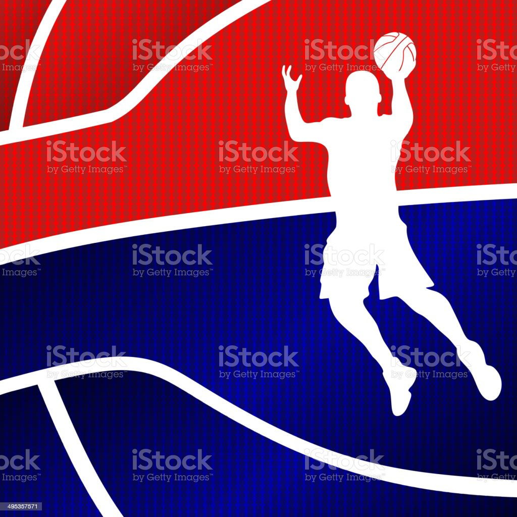Red and blue basketball background royalty-free stock vector art