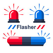 Red and blue flasher