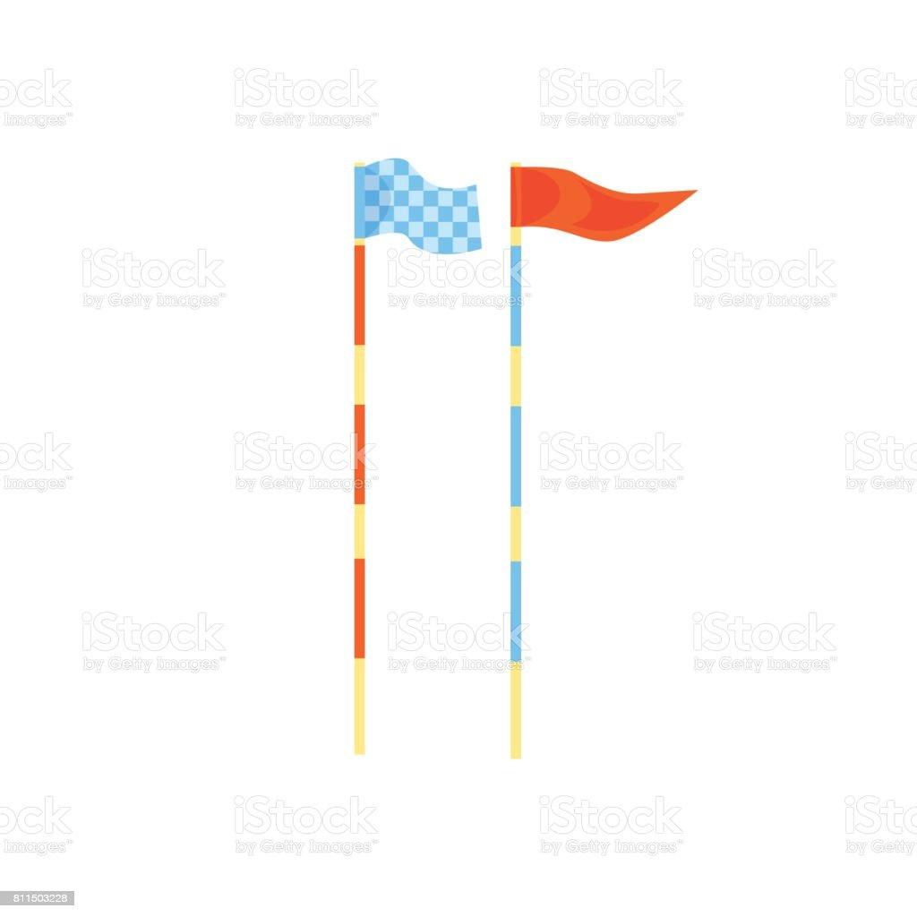 Ilustración de Palos De Golf De Rojo Y Azules Vector De Dibujos ...