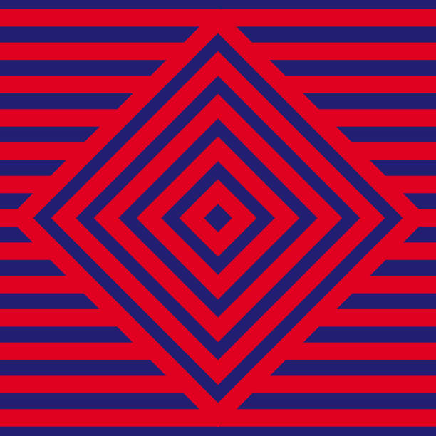 Red and blue Pattern background. Square pattern vector art illustration