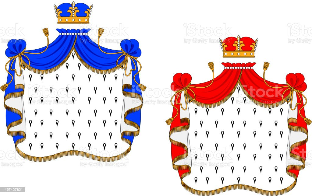 Red and blue royal mantles royalty-free stock vector art