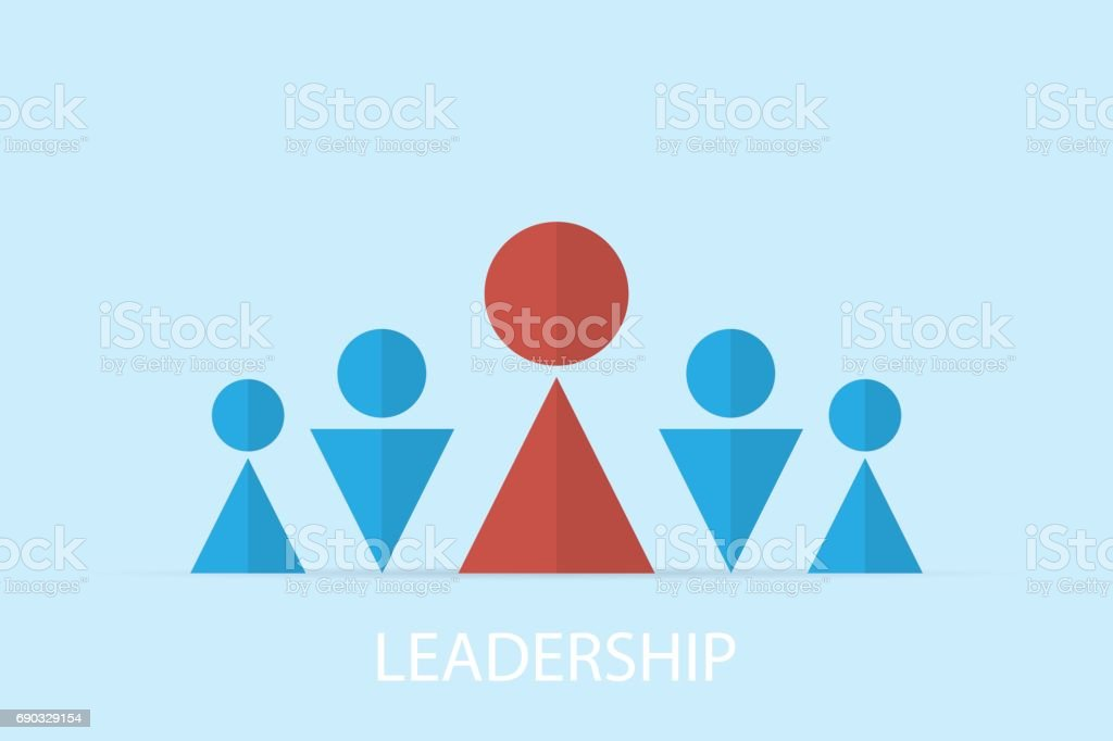 Red And Blue Symbol Of Businessman Leadership And Business Concept