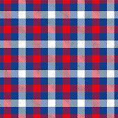 Red And Blue Tartan Plaid Seamless Pattern Design - Illustration