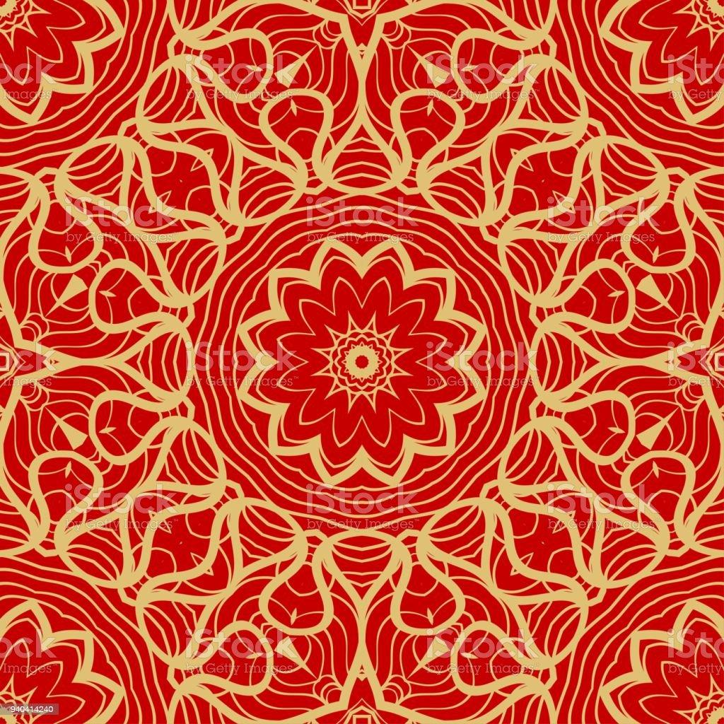 Rouge Et Or Vintage Modele Delegance Fond Vectorielle Continue Pour