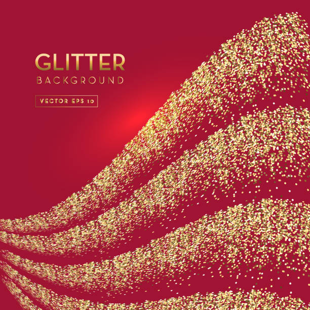 Red and gold glitter background template design layouts vector art illustration