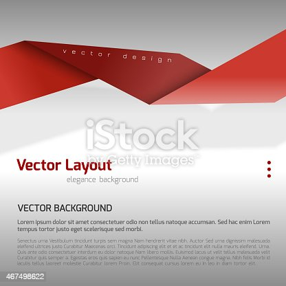 istock A red and gray vector layout template 467498622