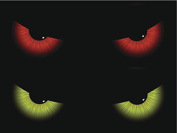 illustrazioni stock, clip art, cartoni animati e icone di tendenza di male gli occhi - malvagità