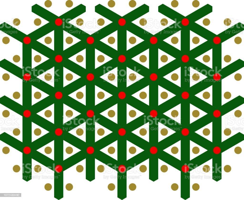 Rote und grüne Muster, nahtlos, x-mas – Vektorgrafik
