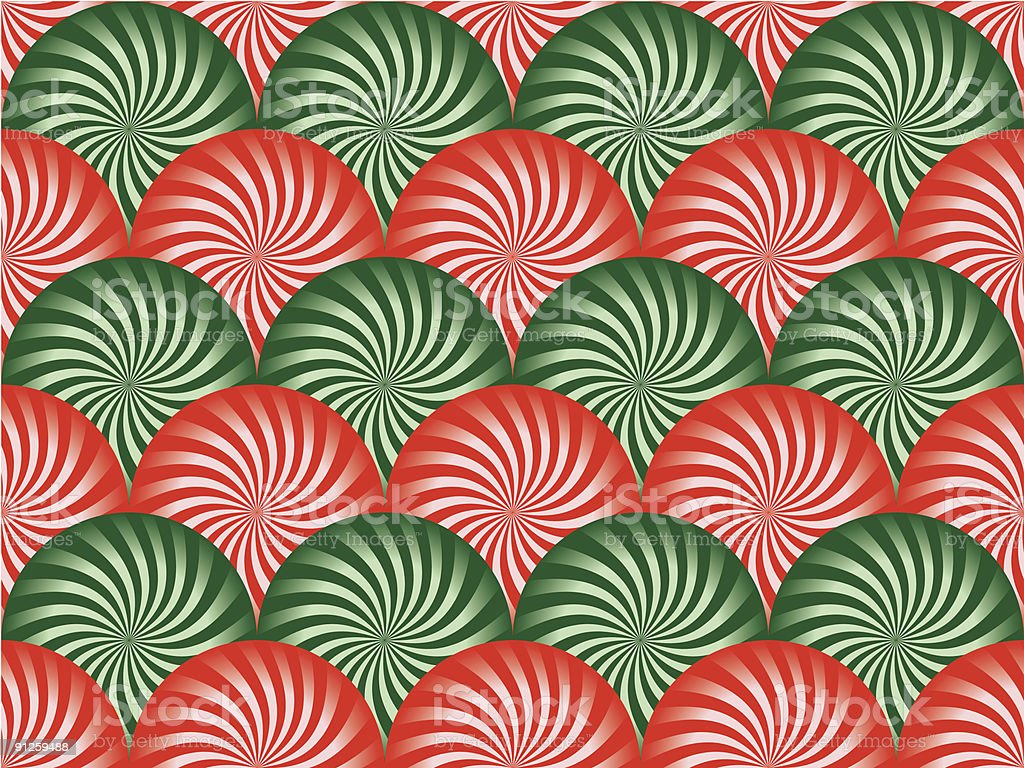 Red and Green Peppermint Background royalty-free stock vector art