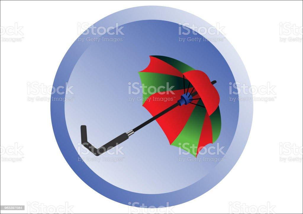 Red and Green Umbrella - Grafika wektorowa royalty-free (Bez ludzi)