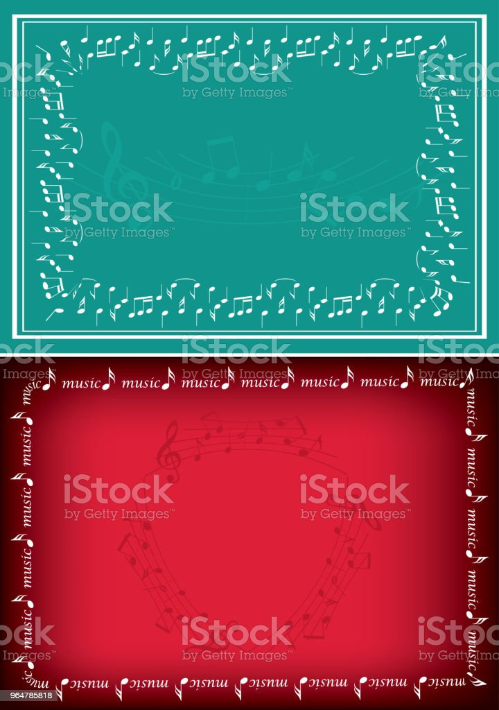 red and green vector backgrounds with music decorations royalty-free red and green vector backgrounds with music decorations stock vector art & more images of backgrounds