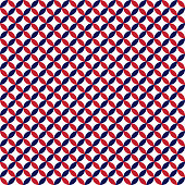 Red, white, and navy blue circles design