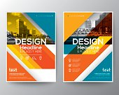 Red and Orange colorful diagonal line stripe modern Brochure annual report cover Flyer Poster design Layout vector template in A4 size