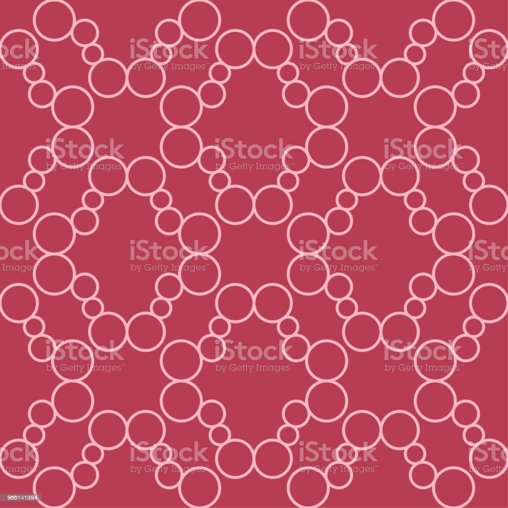 Röda och blek rosa geometriska prydnad. Seamless mönster - Royaltyfri Abstrakt vektorgrafik